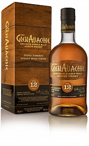 GlenAllachie 12 Year Old -  PX Sherry Wood Finish