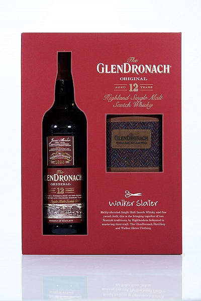 GlenDronach 12 Year Old - Walker Slater Hip Flask Gift Pack