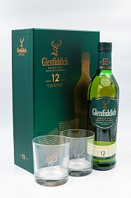 Glenfiddich 12 Year Old - Two Glass Gift Pack