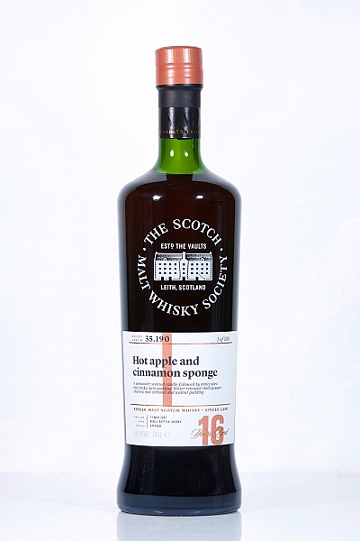 Glen Moray 2001 16 Year Old SMWS 35.190 -Hot apple and cinnamon sponge