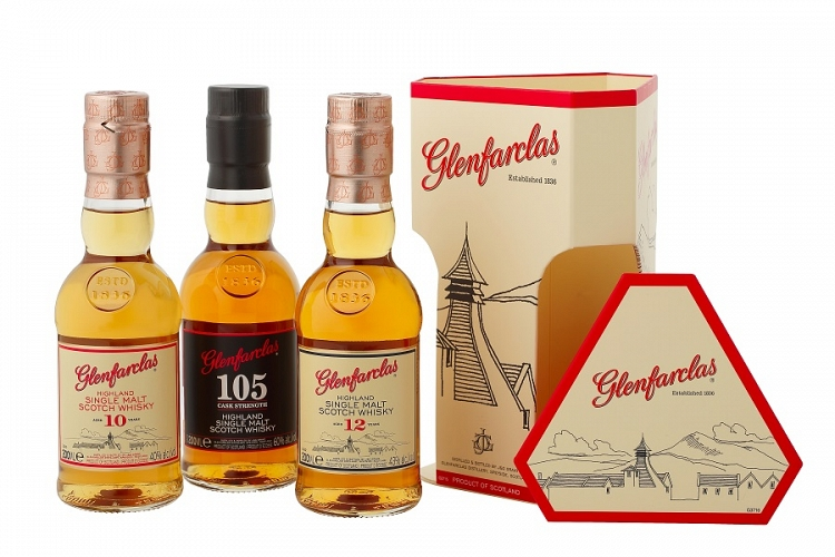 Glenfarclas Gift Pack 10, 12, Year Old & 105  3x20cl
