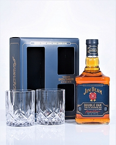 Jim Beam Double Oak 2 Glass Gift Pack