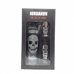 lordanov Silver Skull Vodka & Shot Glass Gift Pack 35cl