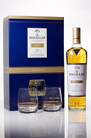 Macallan Double Cask Gold Limited Edition Gift Set & 2 Glasses